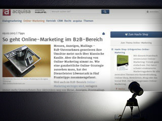 So geht Online-Marketing im B2B-Bereich - Haufe - News & Fachwissen