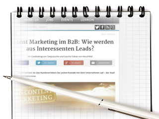 Content Marketing im B2B: Wie werden aus Interessenten Leads? - OnlineMarketing.de