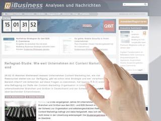 Reifegrad-Studie: Wie weit Unternehmen mit Content Marketing sind - iBusiness
