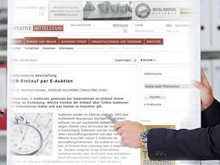 Elektronische Beschaffung: B2B-Einkauf per E-Auktion